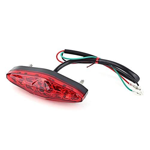 12V Universal 15 LED Motocicleta Luz trasera de la cola Parada de freno Correr Luz trasera ATV Dirt Bike(rojo)