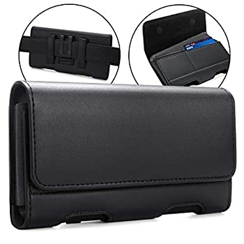 BECPLT Galaxy Note 20 Ultra 5G Note 10+ Plus 5G Holster Black Leather Carrying Cell Phone Holder Belt Clip Holster Case Pouch for S21 Ultra 5G Note 20 5G Note 10+ Note 9 8 A71 5G  Fit w/Thin Case on