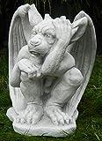 JS GartenDeko Skulptur Dekoskulptur Dekofigur Beton Figur Drache Gargoyle Torwächter H 27 cm