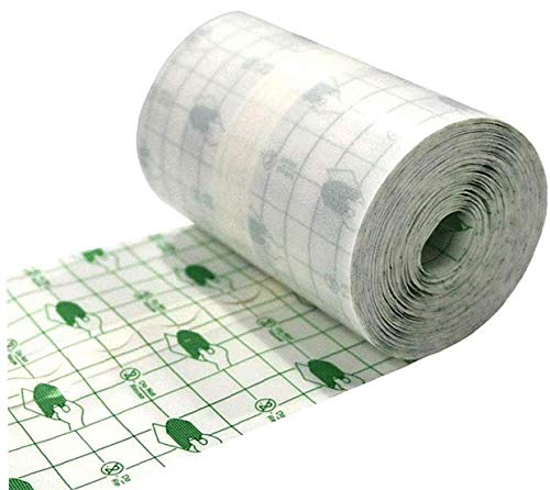 Hotaden Medizinischer Wundverband Fixer Wasserdicht Transparent Film Roll Heftpflaster Stretch Fixation Tape Nachbetreuung Verband Anti-Allergie-Self-Paste 15cmx10m