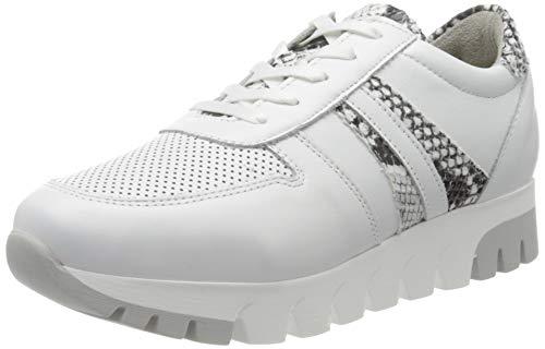 Tamaris Damen 1-1-23749-24 Sneaker, Weiß (WHT LEA./Snake 195), 37 EU