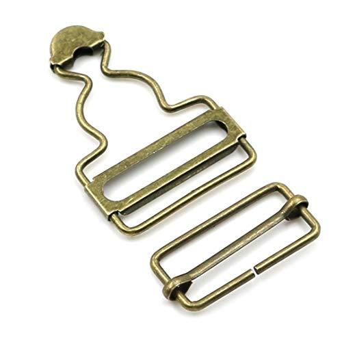 2pcs / Set Lätzchen Mini Strapse Schnalle Metallknopf einstellen Gourd Brace Clips Latzhose Latzhosen Fastener Nieten Nähzubehör Gold