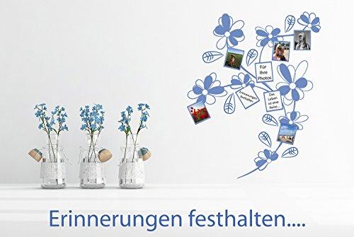 Wandtattoo-Wandaufkleber ***Blüten Zweig mit kleinen Fotorahmen*** Größe.- und Farben frei wählbar!