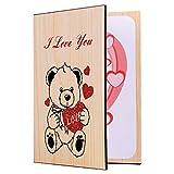 STOBOK - Biglietto di auguri in legno, romantico, per festa della mamma, San Valentino, compleanno