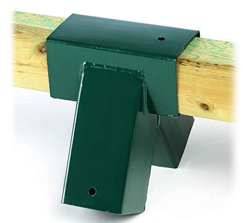 Gartenpirat Schaukelverbinder (1 Stück) grün für Vierkantholz 9x9 cm Schaukel selber Bauen