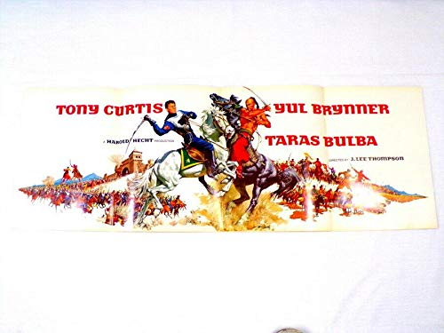 ORIGINAL Vintage 1963 Taras Bulba 12x34 Industry Ad Poster Tony Curtis Y Brynner - Movie Posters