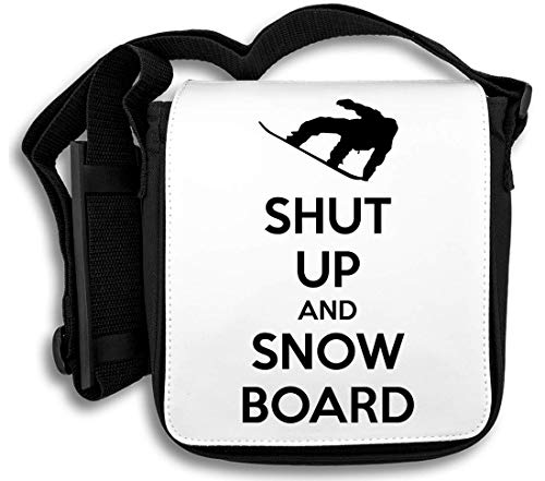 Shut Up and Snowboard schoudertas
