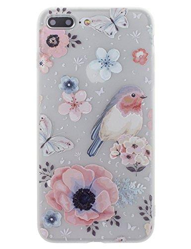 BONAMART Bonamart iPhone 7 Plus Hülle Blumen, iPhone 8 Plus Hülle Blumen, iPhone 8 Plus Hülle, iPhone 7 Plus Hülle