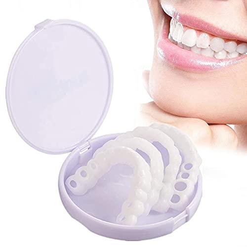 LHXZA ProthèSes Dentaires Dentier Sourire Parfait Haut Et Bas Dentier Esthetique Amovible Sourient InstantanéMent Kit Faux Dent Accolades De Simulation