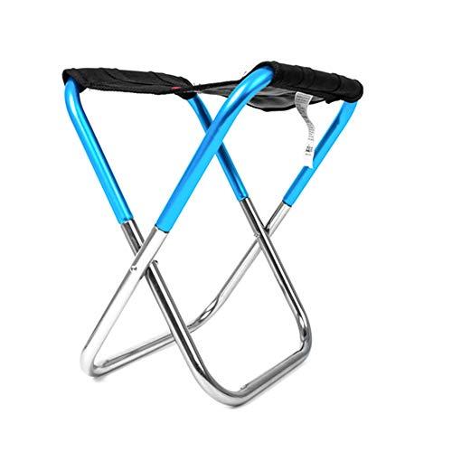 Nicejoy Mini Silla Plegable al Aire Libre Ultra Ligero Senderismo acampa de la Pesca Silla portátil Asiento Taburete con Bolsa de Almacenamiento Mochila Azul 1pc para el hogar