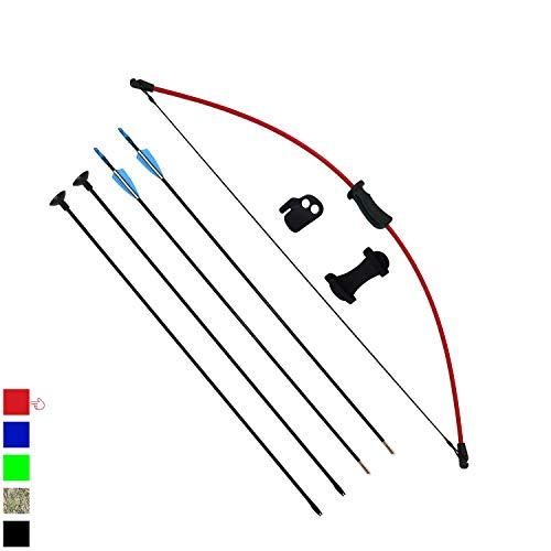 Funtress Set di frecce e arco per bambini, ragazzi e ragazze, per lo sport, il gioco, la caccia, il set regalo con 4 frecce da 16 l, arco di recupero regolabile