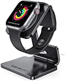 Lamicall Stand Suit for Apple Watch, Charging Stand : Desk Watch Stand Holder Charging Dock Station Compatible with Apple Watch Series SE/Series 6/5 / 4/3 / 2/1 / 44mm / 42mm / 40mm / 38mm - Black