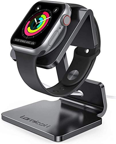 Lamicall Stand Suit for Apple Watch, Charging Stand : Desk Watch Stand Holder Charging Dock Station Compatible with Apple Watch Series 7/SE Series 6/5...