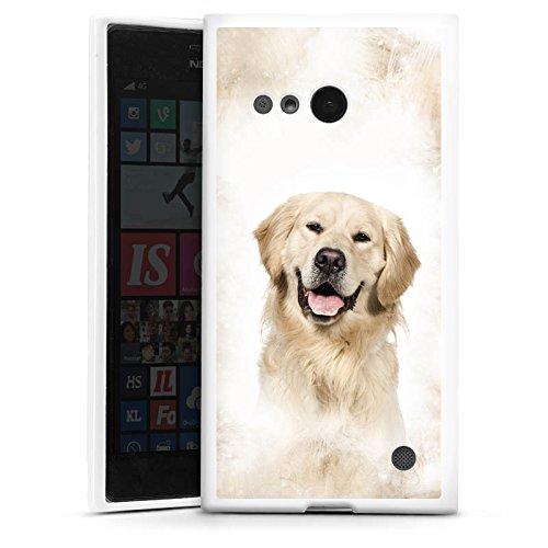DeinDesign Silikon Hülle kompatibel mit Nokia Lumia 730 Hülle weiß Handyhülle H& Golden Retriever Tiere