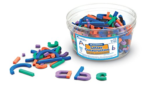 Learning Resources Magnetic Letter and Number Construction Set, Soft Foam Magnetic Shapes, Uppercase and Lowercase Letters, Teaching Aids, 262 Pieces, Grades Prek+, Ages 4+