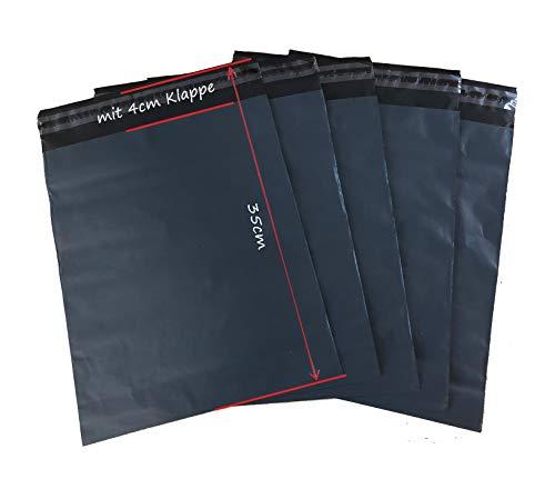 100 St. Folienversandbeutel Versandbeutel Versandtasche 25 x 35 cm schwarz undurchsichtig, Extra Dick