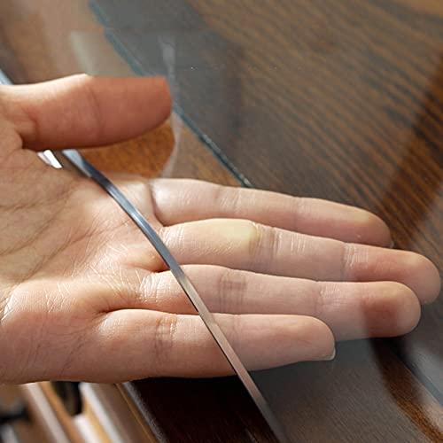 Claro De La Esquina Redonda Mantel De PVC, Cubierta De Protección De Escritorio De Vidrio Suave Transparente para Mesa De Comedor, Sin Lavado/Limpie Limpia(Size:60cm Diameter,Color:1.6mm)