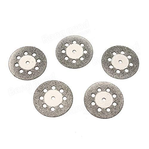 Scherp 22 mm 9 gaten diamant gecoate snijschijven met 1 mandrell Fit for Dremel 5 stuks