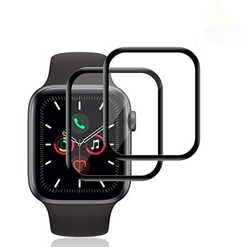 RIIMUHIR Vetro Temperato per Apple Watch 40mm Series5 / 4 [2 Pezzi], [9H Hardness] [Anti-Impronta Digitale] [HD trasparente]Pellicola Vetro Temperato per Apple Watch 40mm Series5 / 4