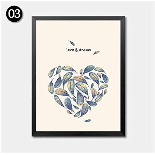 HTBYTXZ Love Dream Poster Love Birds Animali Immagini Poster Stampe HD 2048-40x50cm Senza Cornice 3