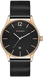 Curren Casual Watch For Men Analog Stainless Steel - M8231 - Black Band