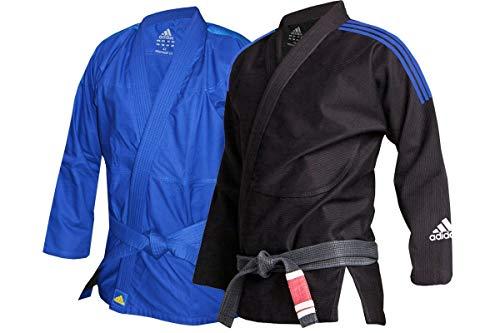 adidas Unisex-Youth BJJ Response Uniform 265 g Jiu Jitsu Arti Marziali Gi, Blu, M3