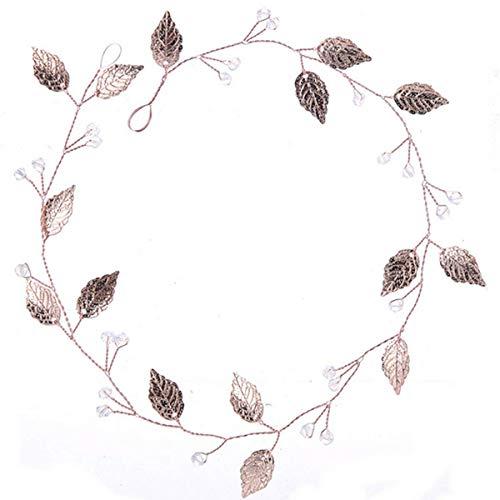 Damen Haarschmuck Haarband Haarreif Haarbänder Baumblätter Tree Haardeko Kristallen Hochzeit Braut Kristall Perlen Edel Edelschmuck rose gold Schmuck Accessoires