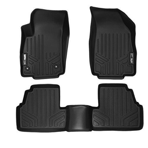 SMARTLINER Custom Fit Floor Mats 2 Row Liner Set Black for 2013-2019 Buick Encore / 2014-2019 Chevrolet Trax
