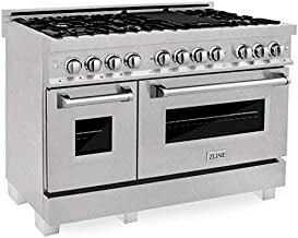 ZLINE 48 in. Professional Dual Fuel Range in Snow Stainless with Snow Stainless Door (RAS-SN-48)