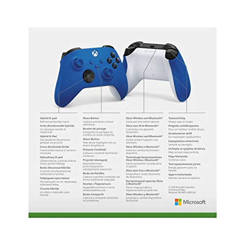 Xbox Wireless Controller Shock Blue - 6