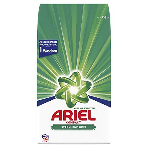 Ariel Pulverwaschmittel Vollwaschmittel Strahlend Rein 1.425kg– 19Waschladungen, Ausgezeichnete Fleckenentfernung beim 1.Waschen