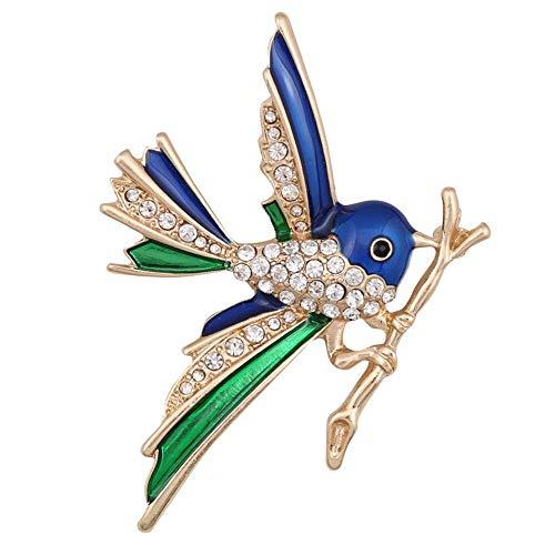 Flying Nido de pájaro Abrigo Gabardina Hermoso Broche