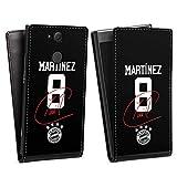 DeinDesign Flip Case kompatibel mit Sony Xperia XA2 Tasche Hülle Martinez #5 FC Bayern München Trikot