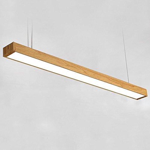 Led lámpara de techo de material de aluminio (patrón de grano de madera), lámpara moderna de la manera, sala de estar de la barra de la decoración de la tienda de la oficina de la barra,Luz cali
