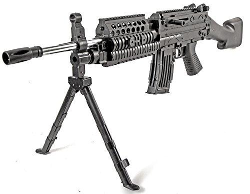 Nerd Clear Softair Waffe Gewehr MK48 Gewehr 93cm Set schwarz inkl. Munition...