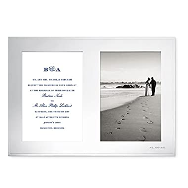 Kate Spade New York Darling Point Double Invitation 5  x 7  Frame, Silver-Plated Metal
