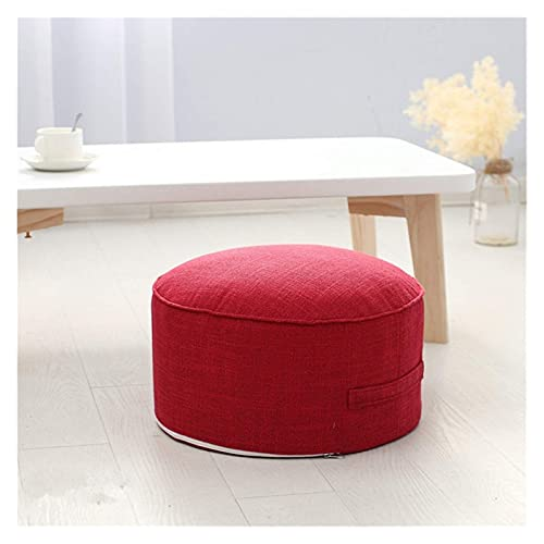 Cojín Redondo de Esponja de Alta Resistencia para Asiento Cojín Redondo para Yoga Cojines para Silla (Color: Rojo)