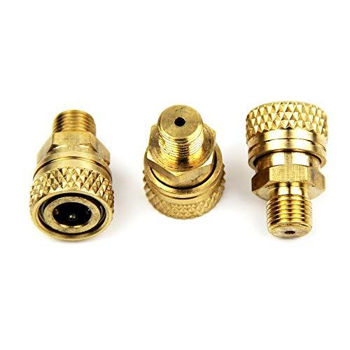 UP100 3 Piezas Cilindros de Buceo PCP conexión de Manguera de llenado de Alta presión, Conector Hembra de desconexión rápida de 8 mm, Rosca Macho 1 / 8NPT y 1 / 8BSPP y M10x1 (1/8 BSPP)