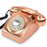 Retro Rotary Dial Telephone () by PS Home and Living - Color: Copper