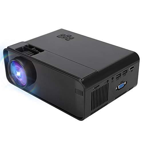 Videoproiettore HD Proiettore Portatile Home Cinema LED 1280 x 720, Supporta 1080p   HDMI AV USB VGA Memory Card TF Card, 32-150 Pollici Dimensioni di Proiezione(Spina UE)