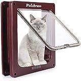 Pulchram Puerta de Mascota, Colgajo de Gato, Colgajo de Gato Magnético de 4 Vías, Colgajo de Gato/Perro con Túnel- Fácil de Instalar 20 * 19 * 16 cm