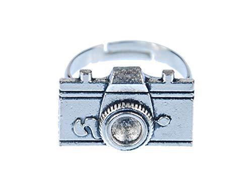Miniblings Kameraring Ring Kamera Filmkamera Foto Fotoapparat Fotokamera Bild - Handmade Modeschmuck I Fingerring mit Motiv I verstellbar one Size