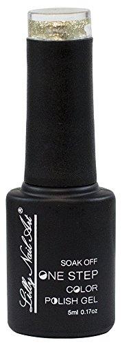 Lilly Nail Art One Step UV-nagellak Goud glitter.
