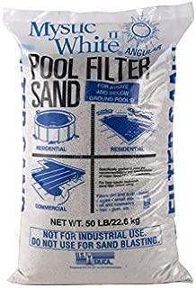 Mystic White II Swimming Pool Filter Sand - 50lb Bag