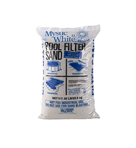 Mystic White II Swimming Pool Filter Sand - 50lb Bag