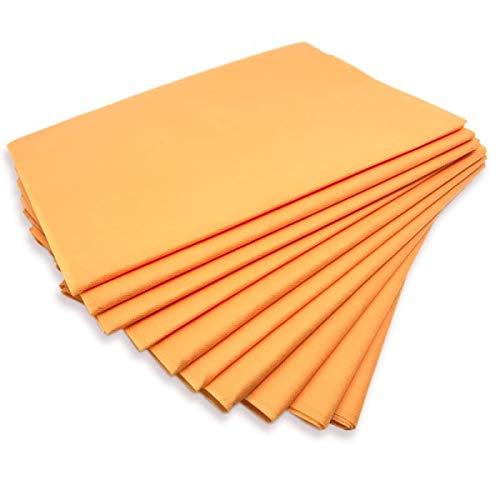 Physiofit24 Waschfaserlaken orange (lachs) waschbar Vlieslaken Hygieneauflage für die Massageliege 80x200cm