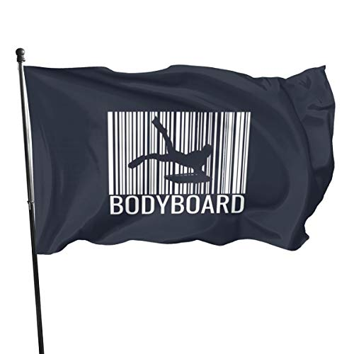 N/ Bodyboarding T-Shirt Barcode Bodyboarder Flag Banner Flags,3 * 5ft