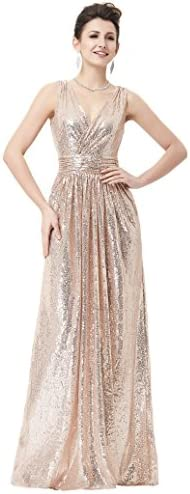Rose gold maid of honor dress