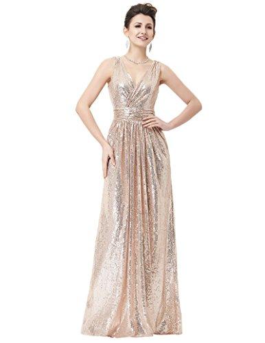 Kate Kasin Plus Size Homecoming Dress Formal Evening Party Dress Rose Gold Size 16 KK199