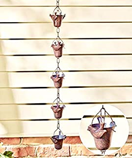 CT DISCOUNT STORE Bird Iron Rain Chains Design -Classic Japanese Style Transport Rain Water From Temple Roof Tops To Ground Level